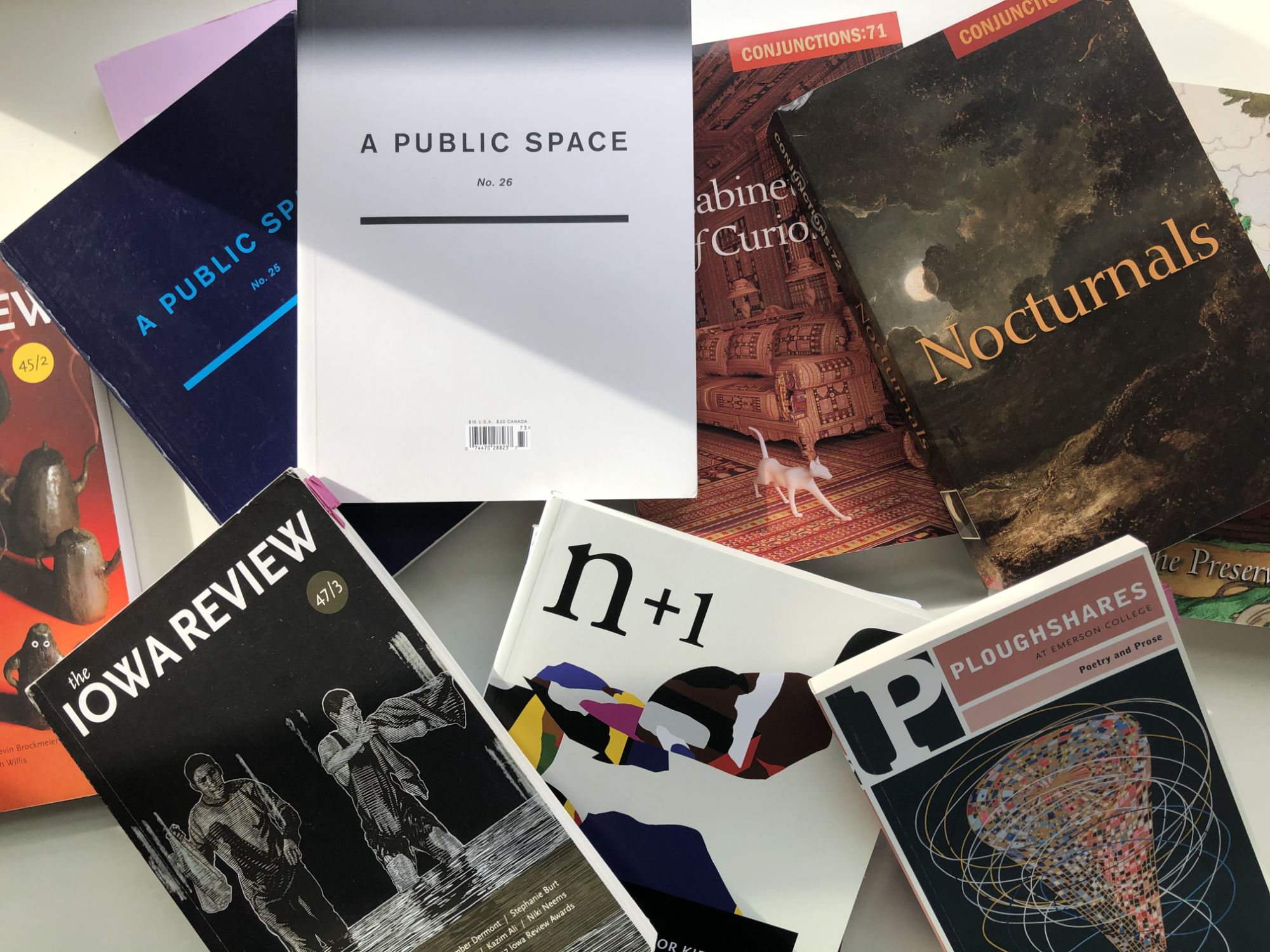 An image of some of my favorite literary journals
